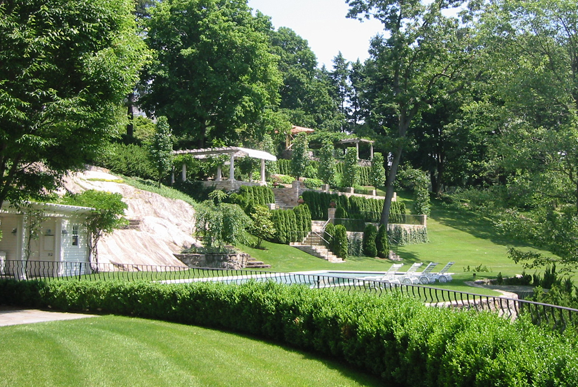 How to landscape a hillside - Hillside Garden Greenwich Ct