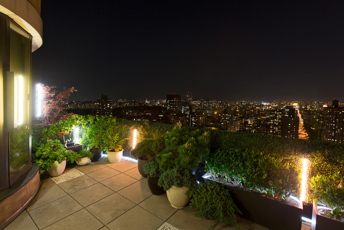 City lights new york for Terrace night